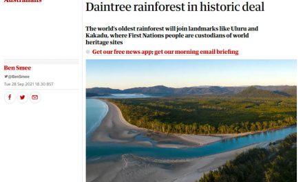 Eastern Kuku Yalanji people regain formal ownership of Daintree tropical rainforest